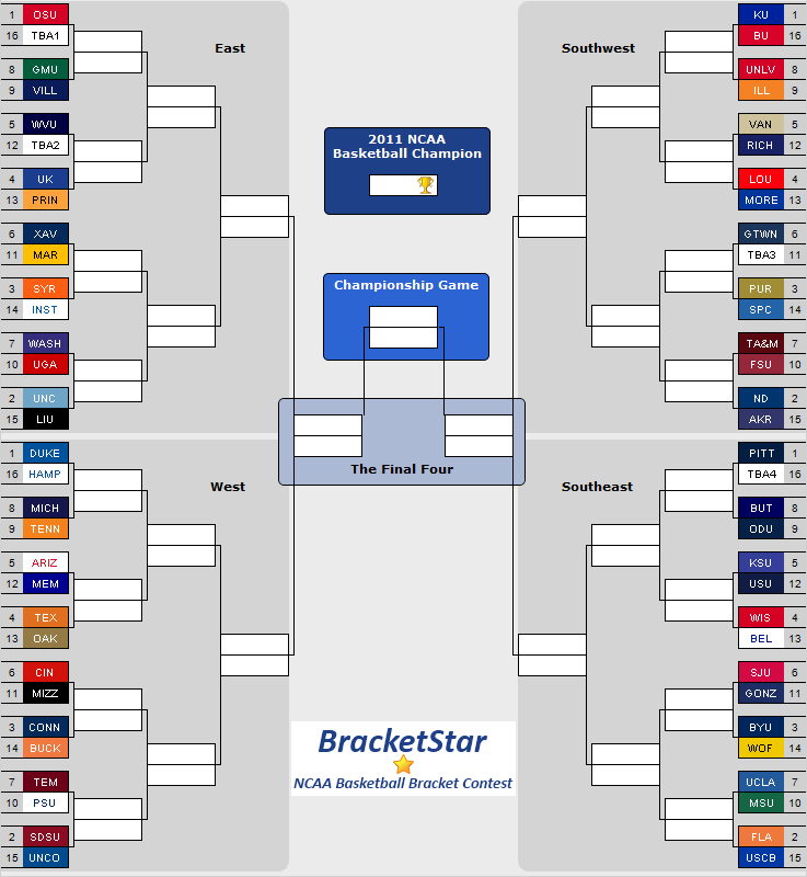 BracketStar March Madness Bracket